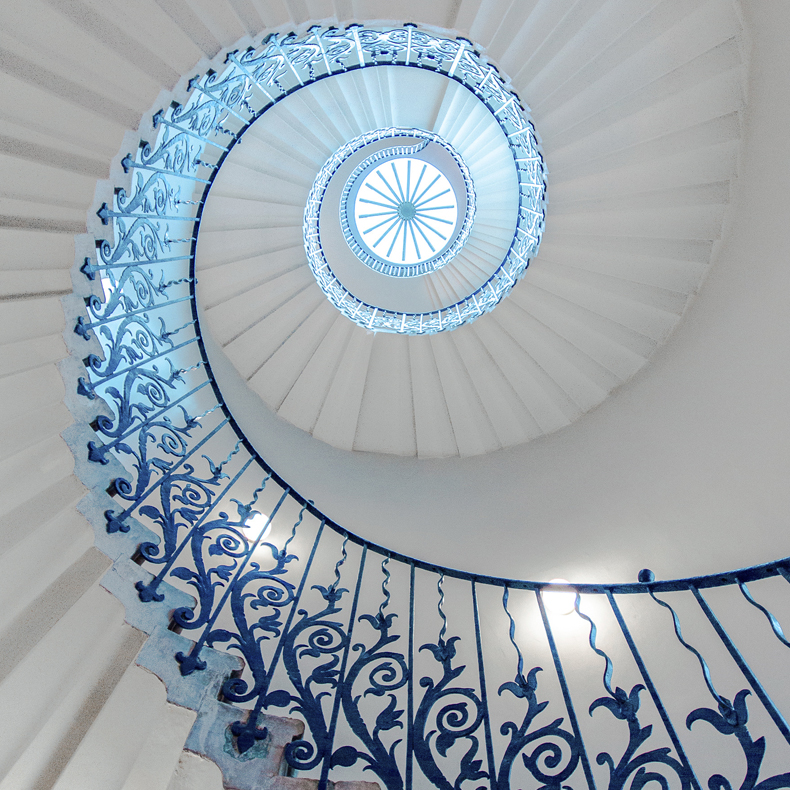 Spiral staircase visual illustrating of small business attorney firm Aligned Law